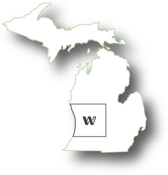 map of michigan where woods builders services