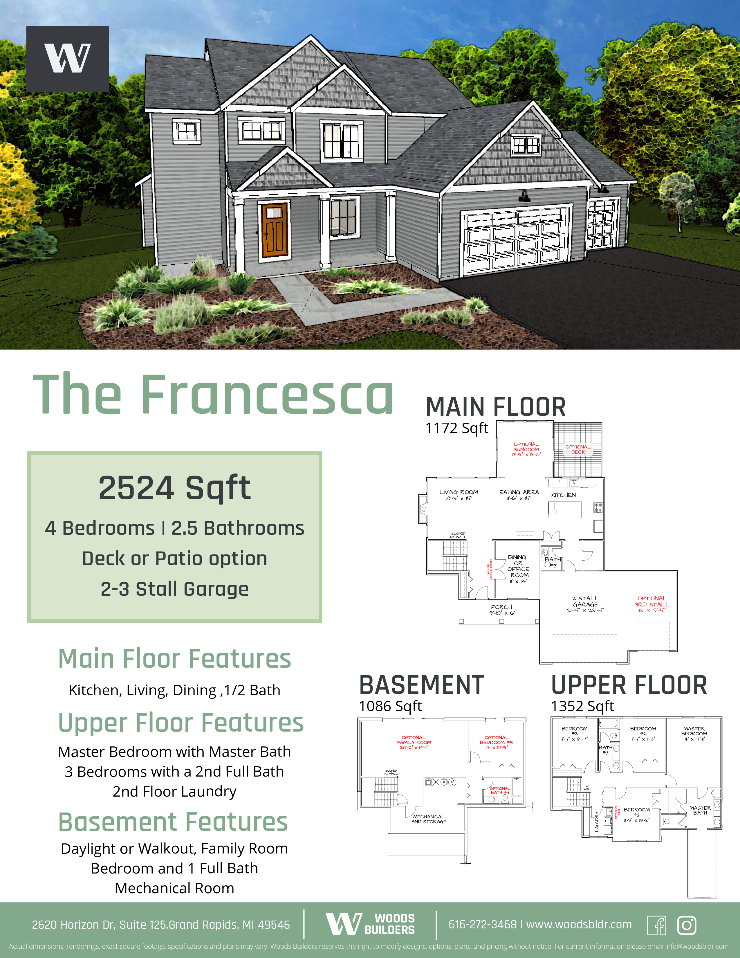 exterior design of francesca house